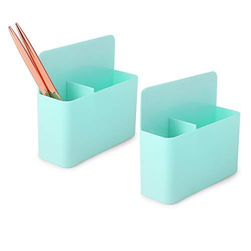 Magnetic Pen Holders for Refrigerator, Locker, Whiteboard (Mint, 2 Pack)
