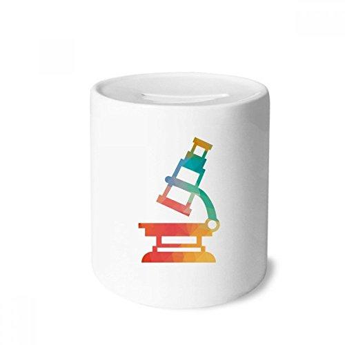 DIYthinker Patrón de Dibujos Animados Microscopio Química Caja de Dinero de Las Cajas de ahorros de cerámica Adultos Moneda de la Caja para niños