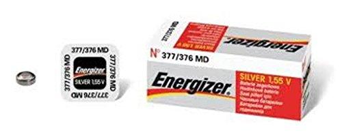 ENERGIZER 377/376 Lot de deux piles 1.55V