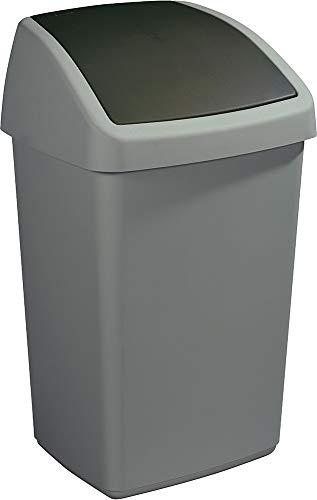Sunware Delta Bin avec Couvercle basculant 50 litros Noir métallique