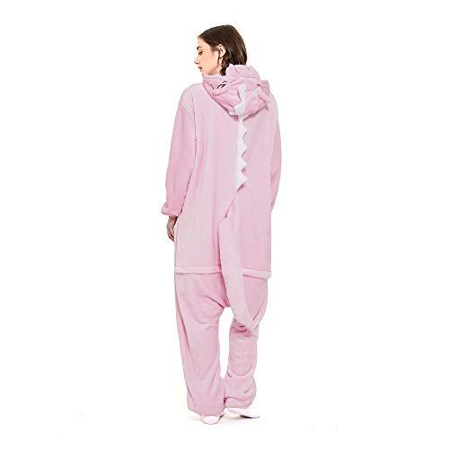 Animal Onesie Women Men Dinosaur Pink Costume...