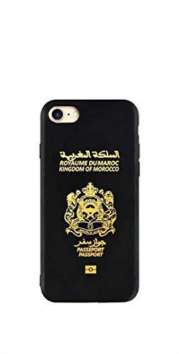 Worldcases_AR: Cover per iPhone 6/6S, motivo oro lucido, in silicone, Marocco Passport