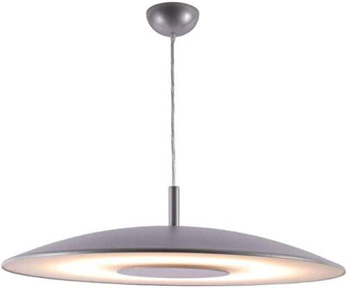 Moderne LED-hanglamp eettafel lamp grijze kroonluchter in hoogte verstelbare hanglamp voor woonkamer keuken kantoor slaapkamer keuken Island (grootte: 48cm-36w)