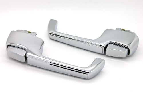 LatchWell PRO-4000065 Exterior Door Handle Pair in Chrome for Chevy & GMC Pickup Truck