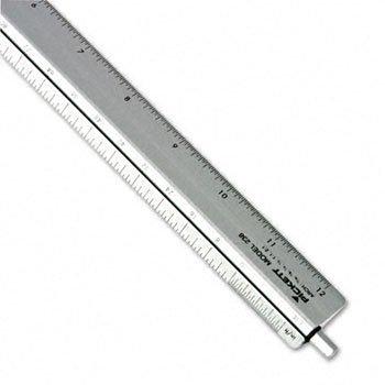Escala Triangular Chartpak® Ajustable para arquitectos escala, aluminio, 12