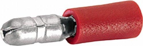 HELLA 8KW 044 040-812 Leitungsverbinder, Rundstecker, 0,5-1 mm², Ø 4 mm, rot, Set
