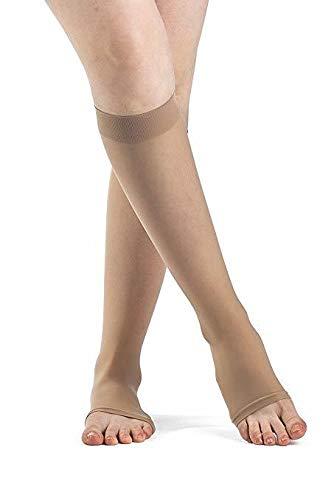 SIGVARIS Women's Style Sheer 780 Open Toe Calf-High Socks 15-20mmHg