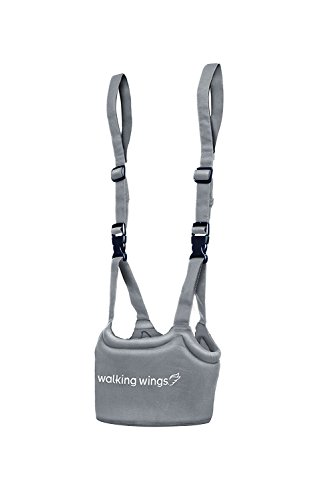 UpSpring Baby Walking Wings Learn to Walk Assistant, Gray, Handheld Baby Walker Harness for Babies and Toddlers