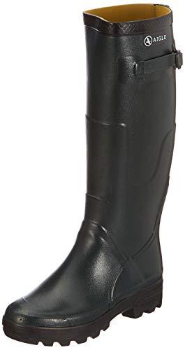 Aigle Aigle Benyl M Gummistiefel, Unisex-Erwachsene Langschaft Gummistiefel, Grün (Bronze 001), 45 EU