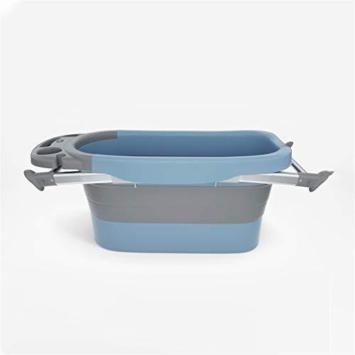 Adesign Infantil del bebé portátil Plegable for bañera del niño Plegable for Ahorrar Espacio - Anti resbalón del resbalón de Prueba - for el baño recién Nacidos (Color : Blue)