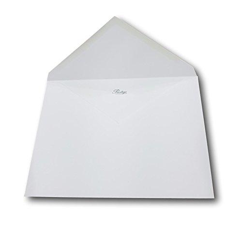 250 biglietti d'invito lusso matrimonio di lusso grossa busta Paw Pointed cancellati 162 x 229 millimetri C5 A5 135g bianco brillante
