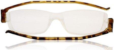 Reading Glasses Nannini Compact 2 Folding Readers Tortoishell-strength +2.50