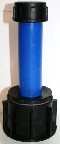 AME90R13_83 Tube d'écoulement avec tube plastique DN32, 100 mm AG 1 et Conclusion – Capuchon, IBC Adaptateur de réservoir d'eau de pluie de Accessoires de conteneurs Mamelon de Bidon
