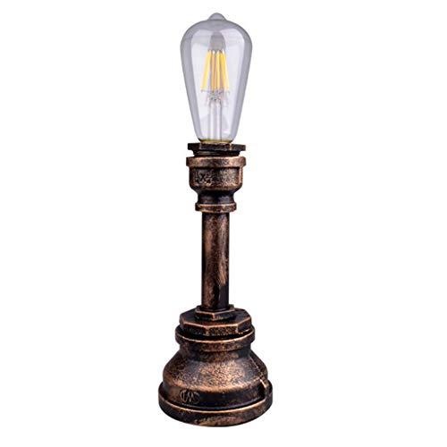 lámparas de Mesa Mesa de Viento Industrial Retro pie de Hierro Forjado...