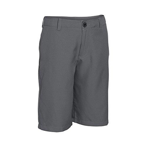 Under Armour Boys' Medal Play Golf Shorts, Graphite (040)/Black, Youth Medium