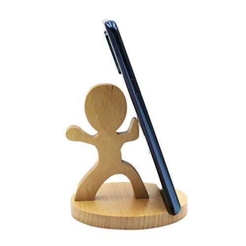 Amamcy suporte de celular para cachorro fofo, suporte de mesa de madeira para iPhone Xs/Max/XR/X/8/7 Plus/Google Pixel/Samsung Galaxy Note, One Size, strong kid