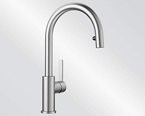 Kitchen Sink tap with a Pull-Out spout from Blanco Candor-S - Brushed Steel - 523121