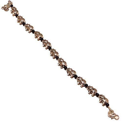 Plan Beads PULSERA 7-9 'de largo en forma de elefante chapado en plata esterlina, joyería HECHA A MANO de Shivi