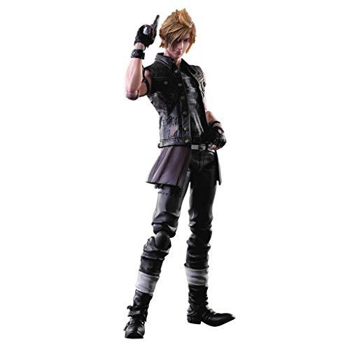 Showkig PVC Handmade Modell Bewegliche Statue Ausgerüstet mit Waffen und Austauschbare Hände Final Fantasy: Prompto Arts Kai Action-Figur Spielen - hoch 25CM
