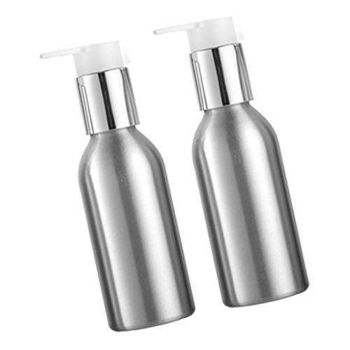 perfeclan 2x Leere Aluminium Pumpflasche Lotionspender Kosmetikbehälter Creme Lotion Container - 120 ml
