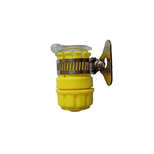 Nixi888 Manguera de riego de jardín Conector rápido Faucet Universal Universal Junta Multifuncional Lavabo de Agua Tubería Lavadora Adaptador Cocina Cocina Cuarto de baño Faucet (Color : Yellow)
