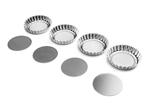 4″ Tartlet Quiche Pan Set W/Removable Bottom Set Of 4 Pastry (2-Pack)-Bakeware sets-Baking supplies-Baking pan-Cake pan-Baking pans-Baking sheets-Cookie sheets for baking-Baking dish