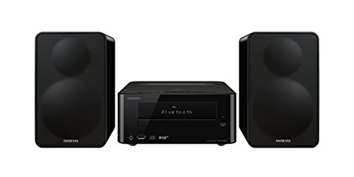 Onkyo CS-265DAB(B) CD HiFi Minisystem mit DAB+ (CD Player, MP3, Radio, 2 x 20 W Ausgangsleistung, Lautsprecher, Bluetooth, NFC, Musik streamen, USB/Audio in, iPhone kompatibel), Schwarz