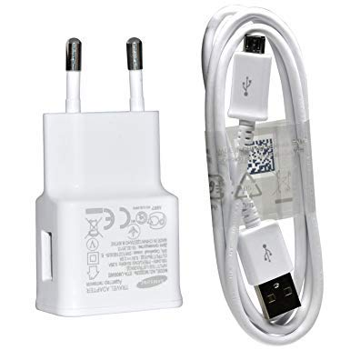 Original SAMSUNG ETA-U90EWE 2in1 Ladegerät/Ladekabel/Netzteil 2000mAh + Micro USB Datenkabel ECB-DU4AWE + Stecker