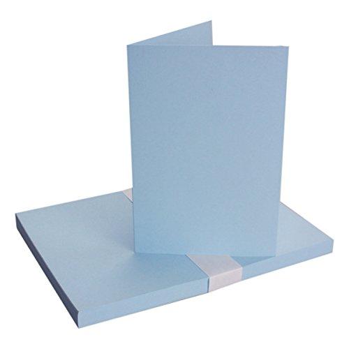 Biglietti pieghevoli B6–azzurro, qualità premium–11,5x 17cm–molto stabile–per stampanti.–qualità marca: Neuser colori vivaci. 25 Doppelkarten blu chiaro