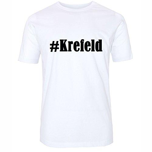 T-Shirt #Krefeld Größe 4XL Farbe Weiss Druck schwarz
