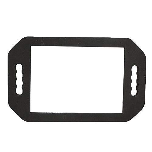 Espejo de mano con doble asa, peluquería Espejo de mano negro, portátil, resistente al desgaste, para escritorio, maquillaje, espejo de tocador, herramienta cosmética para el hogar, rectangular(Negro)