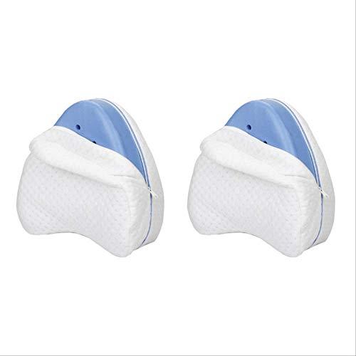 XXKA Cojín de Pierna de algodón con Memoria para Espalda Cadera Piernas Soporte de RodillaLegado para Cuidado de la Salud Cervical Almohada de PiernaDropshipping2 PC-Azul