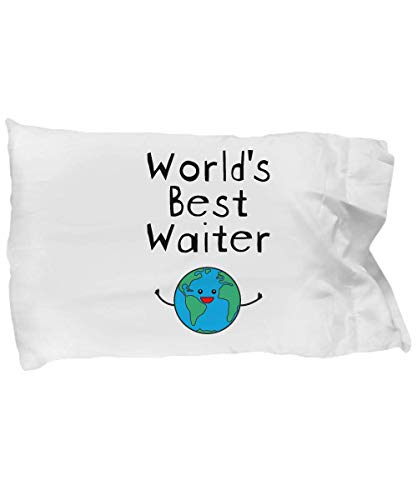 DesiDD World's Best Waiter Pillow Case - Funny Cover Gifts for Cruise Ship Hotel Royal Carnival - Birthday Christmas Pillowcase