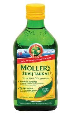 Möller's Omega 3 Huile de Foie de Morue Arôme Naturel 250 ml Fish Cod Liver Oil Natural Flavour Bébé enfants adultes