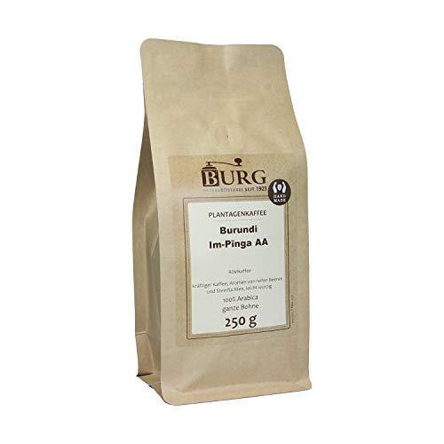 BURG Kaffee Burundi Im-Pinga AA Gewicht 250 g, Mahlgrad ungemahlen