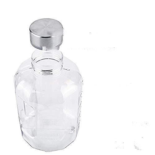VOLORE Auslaufsichere Trinkflasche (2.2L) Tragegriff Wasser Gallone Ideal BPA Frei, Transparent, Praktisch - Große Drinkflasche für das Laufen, Fitness, Yoga, Im Freien und Camping (Weiß)