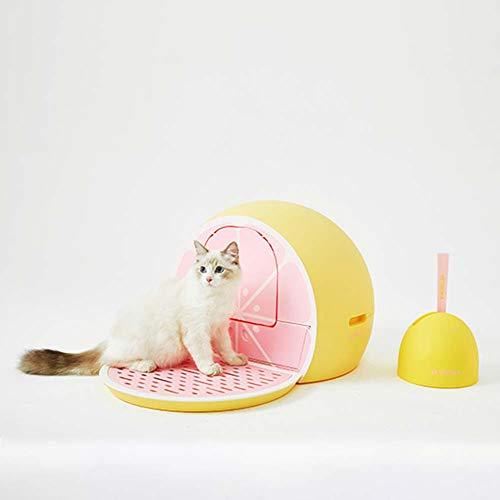 Kattentoilet, groot kattentoilet Splash-Proof Deodorant groen/roze 21 * 17 inch