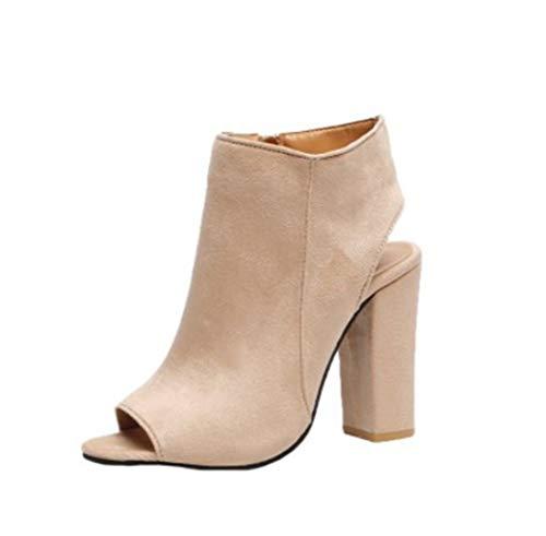 Zapatos Mujer Tacones Botines Mujer Tacon Medio Planos Invierno Alto Botas de Mujer Casual Plataforma Nieve Ante Botas de Cordones Calientes Martin Boots