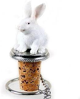 White Rabbit Bottle Stopper