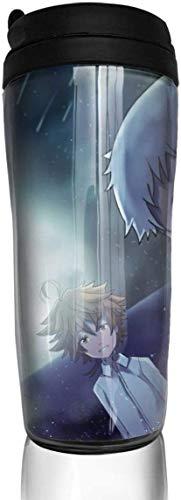 NR Die versprochenen Neverland Anime Cups, Travel Cups mit Deckel, Kaffeetasse für Frauen und Männer, 12oz Kaffeetassen für Kinder, Autotasse, Milchglas, Thermoskanne