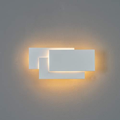KOSILUM - LED Applique design tripartie blanche - Trio - Lumière Blanc Chaud Eclairage Salon Chambre Cuisine Couloir - 12W - 390 lm - LED intégrée - IP20