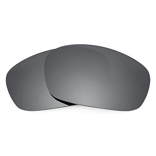 Revant Verres de Rechange Compatibles avec Oakley Jawbone, Non Polarisés, Chrome Noir MirrorShield