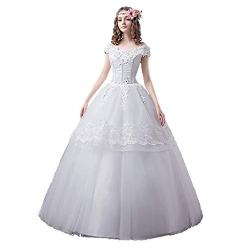 Eénschouder Bruiloft Chiffon Bruiloft Avondjurk Dames Off-the-shoulder Kant Geplooid Lange Bruidsjurk Retro Gefranje Avondjurk