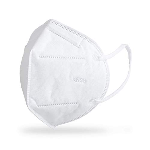 KN95 FACE MASK 5-Layer Filtration White Mask - Liquid and Dust Proof Face Protection - 50 Pack