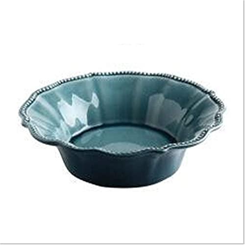 LHJCN Fruit Dish,Ceramic Dessert Plate Tapas Bowls,Salad Plate Household Tableware for Restaurant,Decorative Snack Ceramic Fruit Candy Dessert Plate Storage Bowl