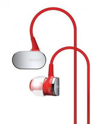 Nixon H023200-00 Micro Blaster In-Ear-Kopfhörer mit Mikrofon (106dB, 3,5mm Klinkenstecker) rot