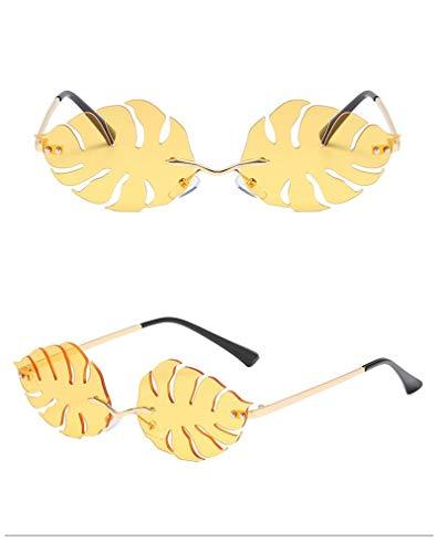 ZYIZEE Gafas de Sol Gafas de Sol de Hoja única para Mujer Lindas Gafas de Sol de Color Caramelo para Hombre Gafas de Conductor Divertidas sin Montura de Metal para Fiestas