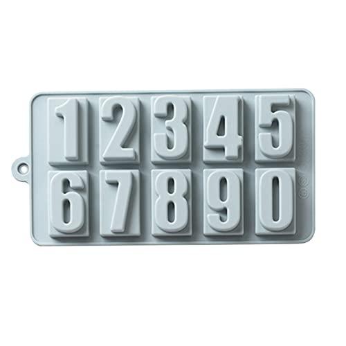 SHINEHUA 26 Buchstaben A-Z Alphabet Silikonform, 0-9 Zahlen Gummiformen Eiswürfelschale, Kuchenform Muffin Tassen Keks Schokoladengelee Handgemachte Seifenform