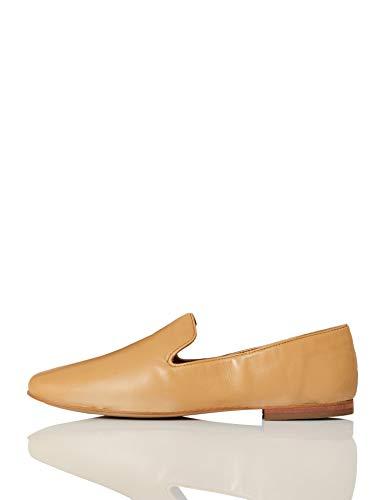 find. Soft Leather Slipper Mocasín, Braun (Pale Tan), 40 EU