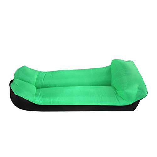 DWHJ Aufblasbare Lehnstuhl, bewegliche Sofa Kann Folding Schnelle Aerated, Geeignet für Außen Sandy Beach Courtyard Lawn Erholung,Grün